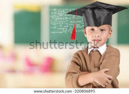 Smart child. - stock photo