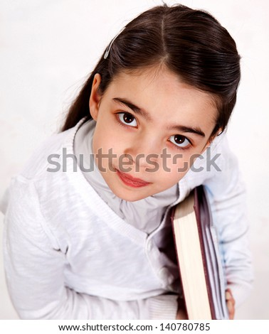 smart girl in school education is - stock photo