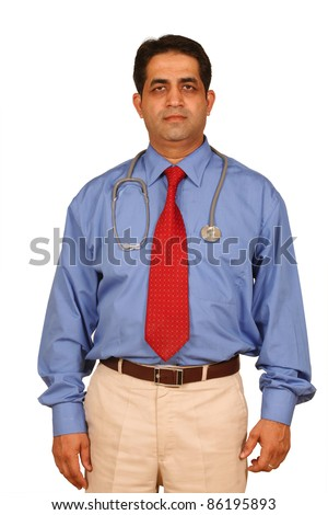 smart good looking doctor - stock photo