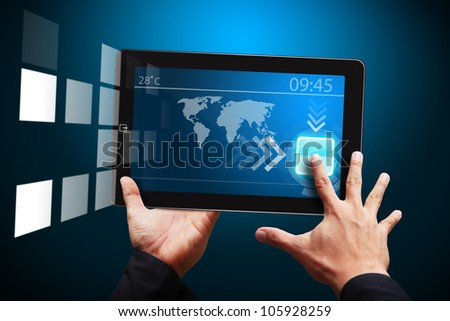 Smart hand touch on Digital tablet computer