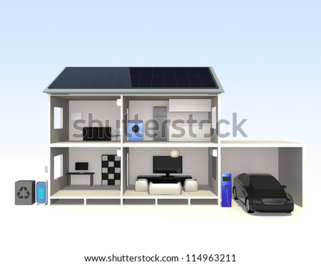 smart home concept - stock photo