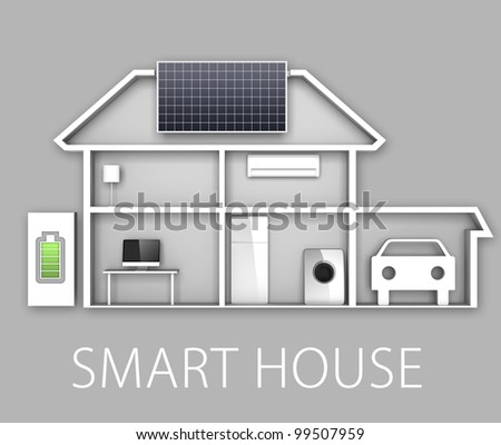 smart house concept - stock photo