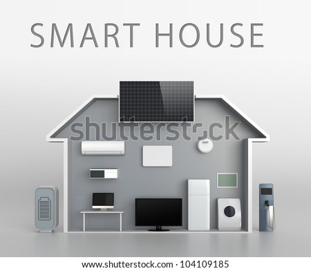 smart house concept with description