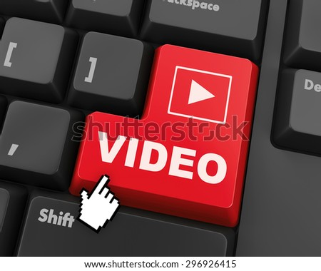 Smart keyboard with color button, image and text Video - stock photo