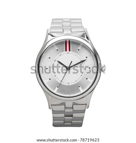 Smart men's wristwatch best for all occasions - stock photo
