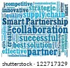 Smart Partnership concept in word collage - stock photo