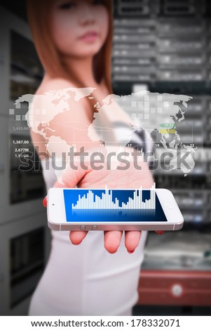 smart phone and data information  - stock photo