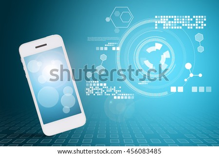 Smart phone and technology background