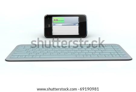 Smart phone 4g standard - stock photo