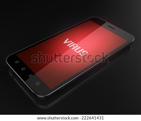 Smart phone infected - stock photo