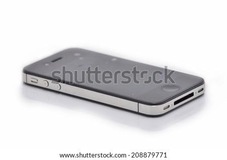Smart phone isolate - stock photo