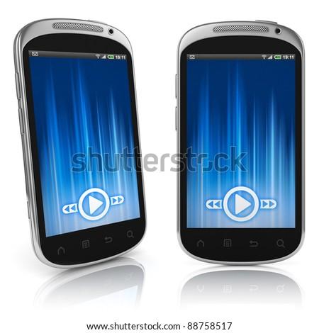 smart phone isolated - stock photo