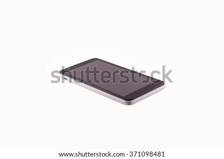 smart phone isolated on white. - stock photo