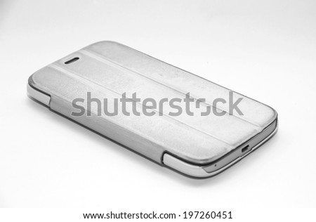 Smart phone isolated on white background. - stock photo