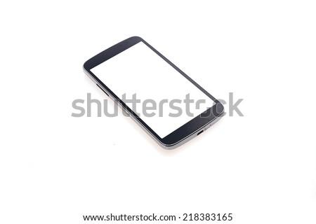 Smart phone isolated on white background. - stock photo