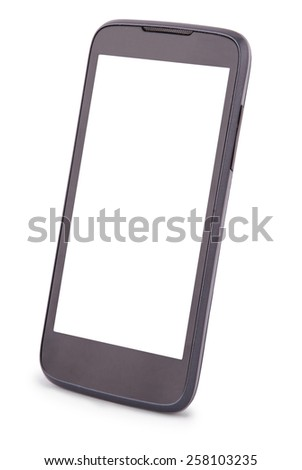 Smart Phone isolated on white. Two clipping path inside separately for phone and screen. - stock photo