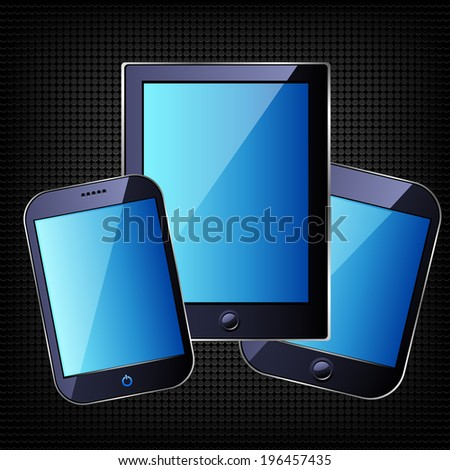 Smart Phone. Raster copy. - stock photo