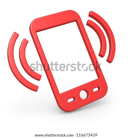 Smart phone symbol - stock photo