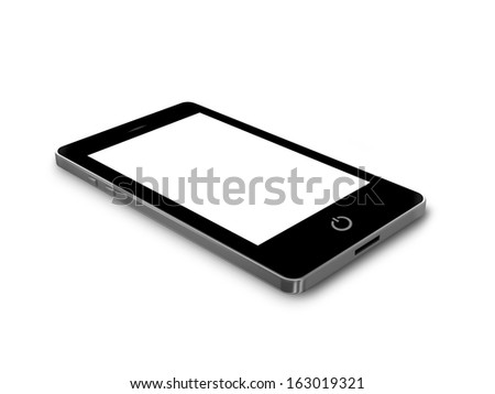 Smart Phone With Blank Screen - stock photo