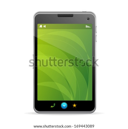 Smart Phone With green screen and text