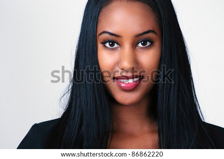 Smart pretty office beauty - stock photo