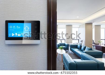 Smart Screen Smart Home Apps On Stock Photo 675102319 - Shutterstock