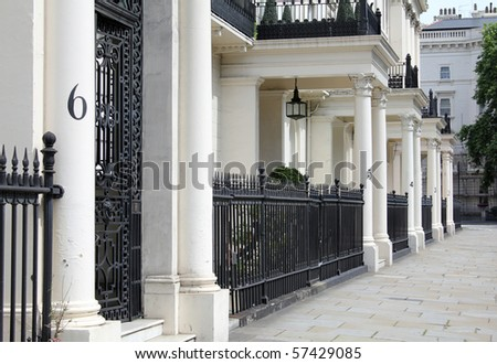 smart street in london in numerical order from 6 to 2 - stock photo