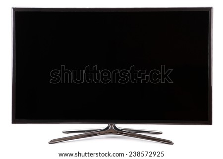 Smart tv led  monitor isolated on white  - stock photo