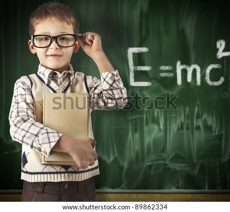 Smart Young Boy - stock photo
