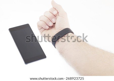 Smartband connection - stock photo