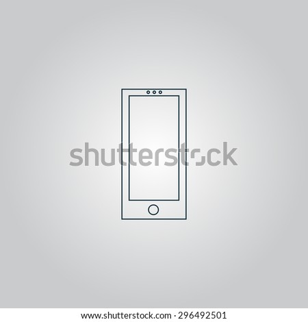 smartphone. Flat web icon or sign isolated on grey background. Collection modern trend concept design style  illustration symbol