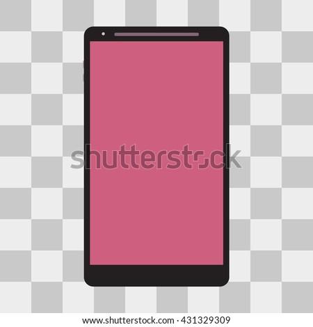 smartphone icon illustration on transparent background - stock photo