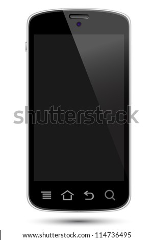 smartphone illustrations, replace screen with own image. - stock photo