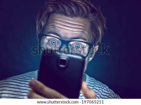 Smartphone Junkie - stock photo