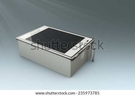 smartphone looks like bath