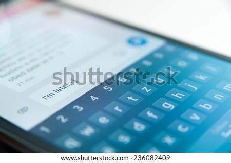 Smartphone Message - stock photo
