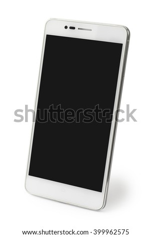 smartphone on white background with clipping path