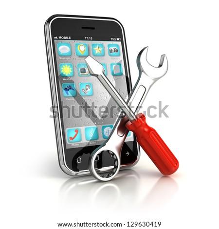 Smartphone repair - stock photo