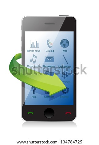 smartphone settings illustration design over a white background