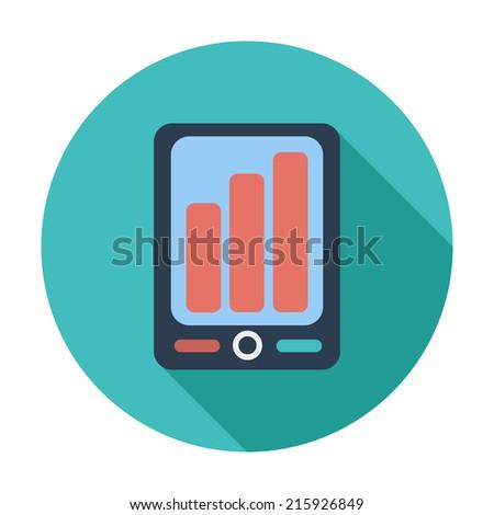 Smartphone. Single flat color icon.  - stock photo