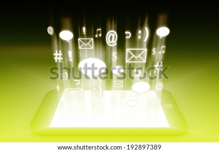 Smartphone Technology and Entertainment as a Art - stock photo