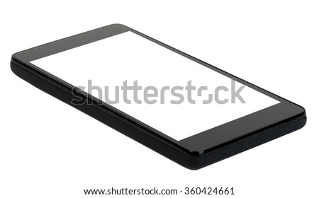 Smartphone with blank screen