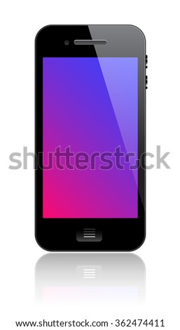 Smartphone with blank screen - stock photo