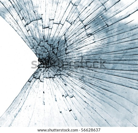 Smashed glass - stock photo