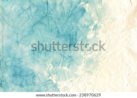 Smashed painted paper background - stock photo