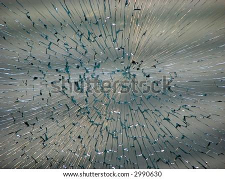 smashed window - stock photo