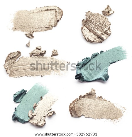 smear paint of cosmetic products - stock photo
