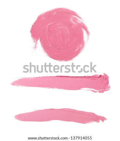 smeared pink blush set - stock photo