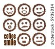 smile coffee - stock photo