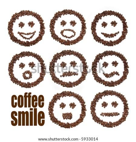 smile coffee - stock photo